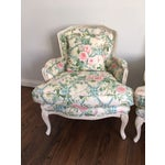 Image of Shabby Chic Floral Bergere Chairs - A Pair