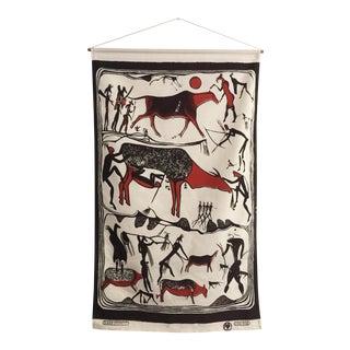 Vintage Hand Printed Tapestry
