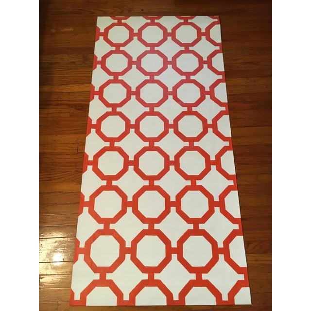 """Orange & White Canvas Rug - 2'6"""" x 5'2"""" - Image 2 of 4"""