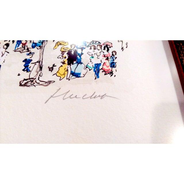 "Urbain Hutchet ""Paris, Palais Royal Ii"" Lithograph - Image 4 of 7"