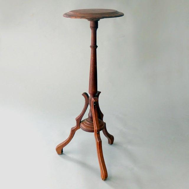 Vintage Sarreid Ltd Tri-Leg Oak Table Stand - Image 2 of 2