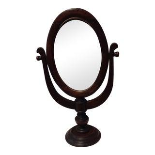 Vintage Oak Standing Vanity Mirror