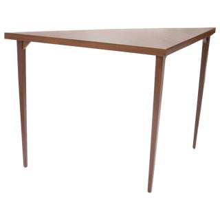 Triangular Mahogany Sofa Table
