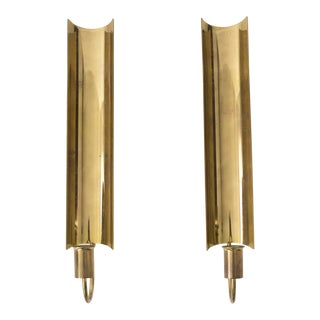 Pierre Forsell for Skultuna Brass Wall Candlesticks - A Pair