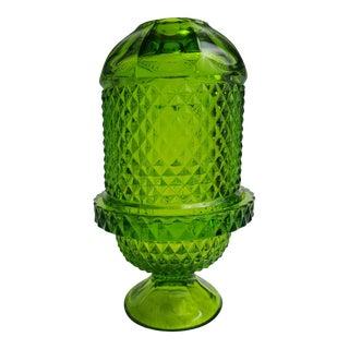 Vintage Green Glass Fairy Light