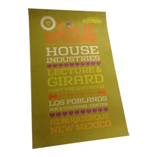 2007 Girard and House Industries Lecture Poster