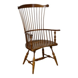 Duckloe 18th Century Style High Back Windsor Arm Chair