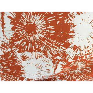 Schumacher Orange Firework Fabric