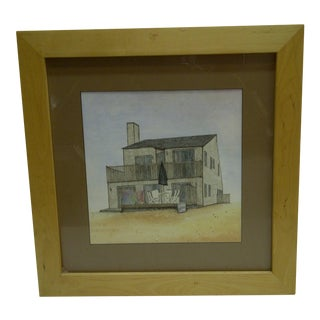C. 1970 Beach House Original Drawing
