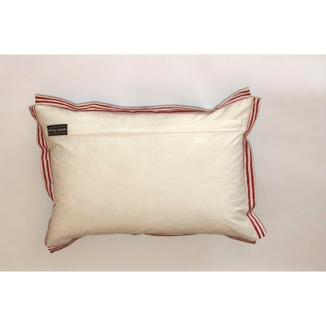 Indigo Elephant Block Printed Pillow - Image 2 of 3