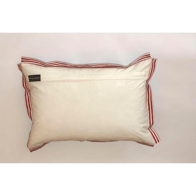 Image of Indigo Elephant Block Printed Pillow