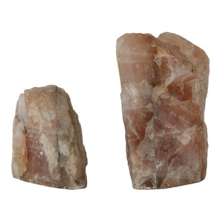 Rose Quartz Bookends - Pair