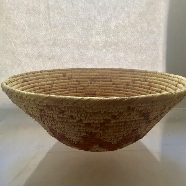 Vintage Native American Apache Pima Coil Basket - Image 11 of 11