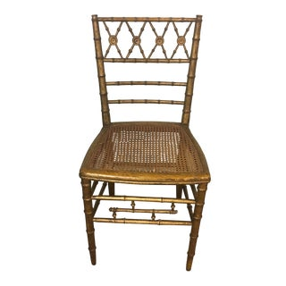19th Century Giltwood Faux Bamboo Chair