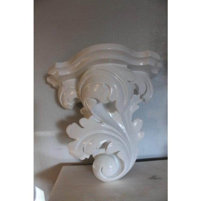 Serge Roche Vintage Plaster Wall Bracket - Image 5 of 11