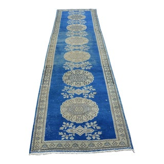 Turkish Oushak Floor Long Runner Rug - 2′11″ × 11′1″