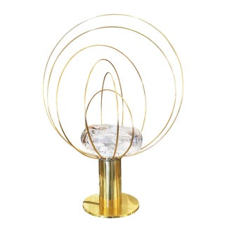 """Barnaba"" Brass Table Lamp by Angelo Brotto for Esperia"