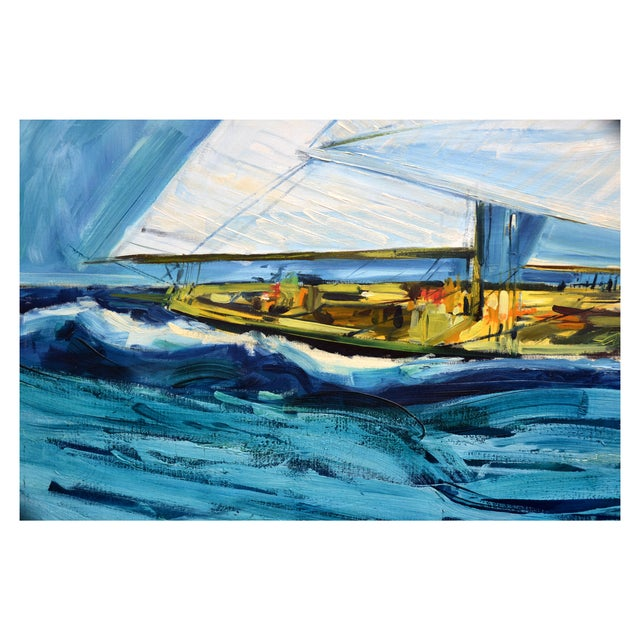 America's Cup by Marshall Johnson Painting - Image 2 of 2