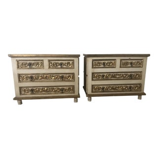 Mexico Polychrome Mirrored Cabinets - A Pair