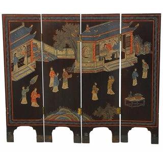 4-Panel Chinese Coromandel Table Screen