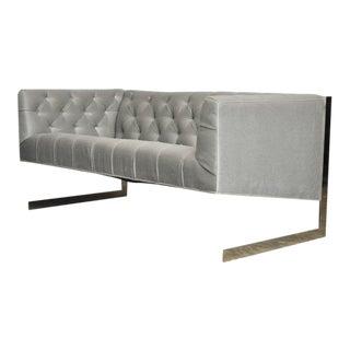 Milo Baughman Cantilever Settee Sofa