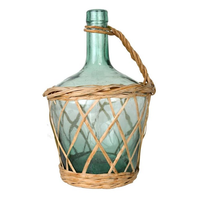 Vintage Italian Wicker Wrapped Wine Carafe - Image 1 of 2