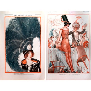 1920's La Vie Parisienne Party Theme Prints - Pair