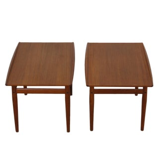 Pair, Danish Modern End / Accent Tables by Grete Jalk in Teak