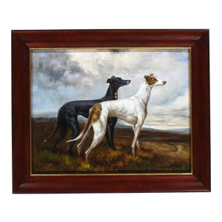 Pasargad N Y Greyhounds Oil Painting on Canvas By Maintland-Smith