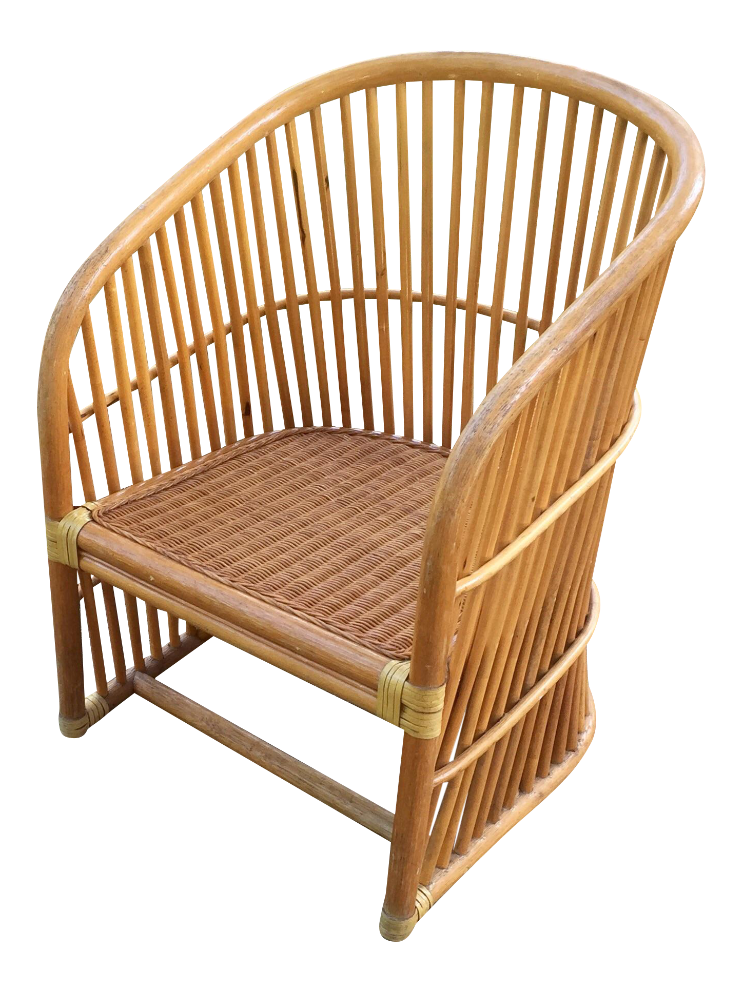 Vintage Rattan Barrel Chair