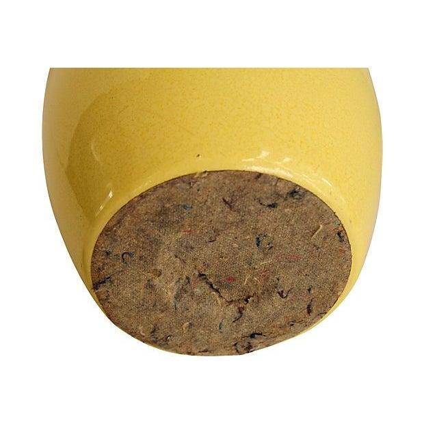 Yellow Ceramic Lamp - Image 5 of 5