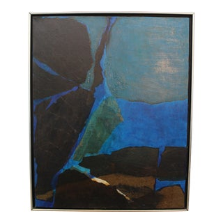 Mid-Century Modern Abstract Oil Painting 1960's