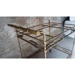 Image of Regency Faux Bamboo Metal Bar Cart