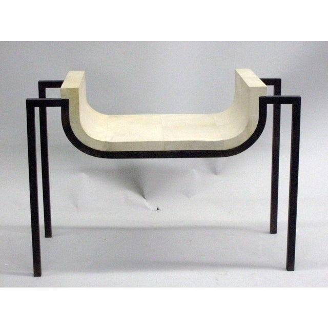 Image of Two Parchment Benches in the Style of Marc Duplantier