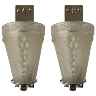 Schneider French Art Deco Sconces by - A Pair