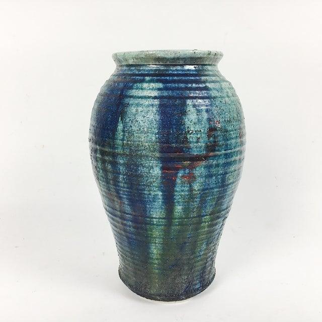 Vintage California Modern Style Drip Glaze Vase - Image 3 of 8