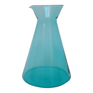 Turquoise Glass Carafe