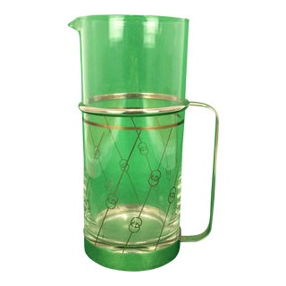 Gucci Glass With Chrome Banding Cocktail Pitcher