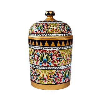 Hand Painted Floral Canister