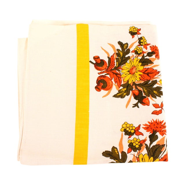 Floral Linen Tablecloth - Image 1 of 3