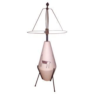 California Modernist Llama Lamp