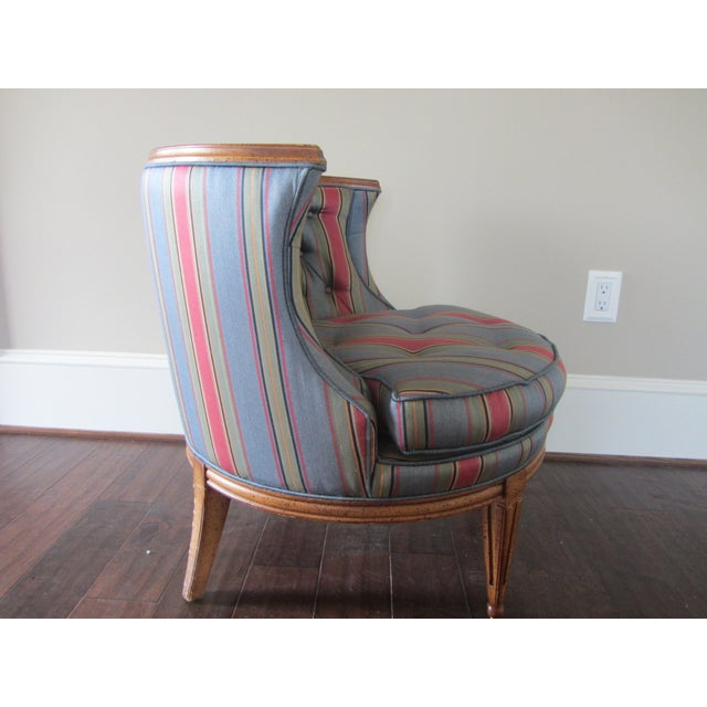 Mid-Century Modern Blue Tub Chair - Image 3 of 6
