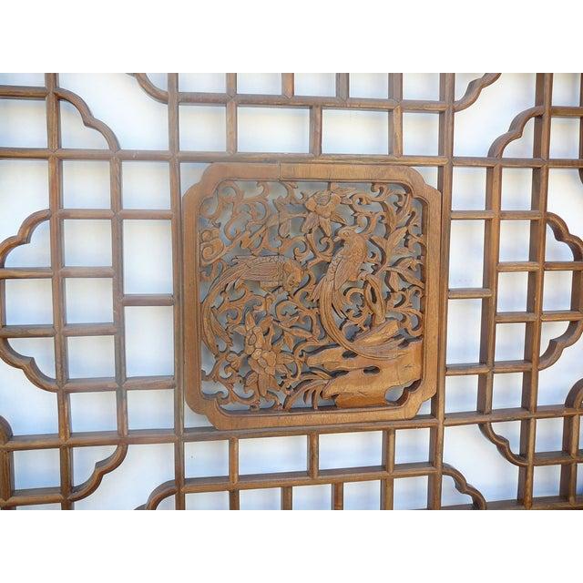 Chinese Octagonal Bird Scene Wood Wall Decor - Image 3 of 5