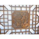 Image of Chinese Octagonal Bird Scene Wood Wall Decor