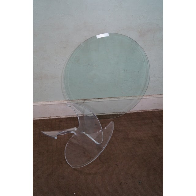 Knut Hesterberg Glass Top Lucite Base Coffee Table - Image 9 of 10