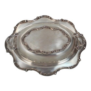 Silver Plated Covered Oval Serving Dish
