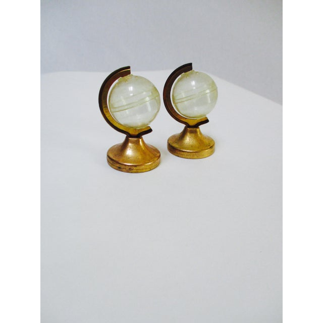 Glass Globe Paperweight & Lucite Miniature Globes - Set of 3 - Image 3 of 5