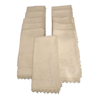 Lace Edged Buffet Napkins - Set of 11