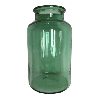 Handblown Green Preserve Jar