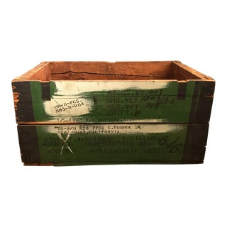 Vintage Wood Shipping Crate